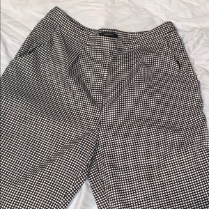 Forever 21 box pattern work trousers